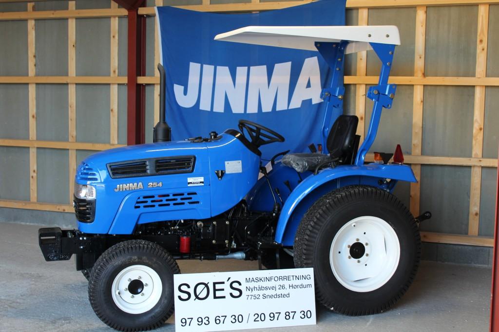 jinma 254 med græsdæk. pris kr 51.000